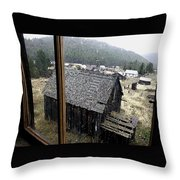 Elkhorn Snowfall Throw Pillow