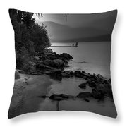 Elkins North Beach Throw Pillow