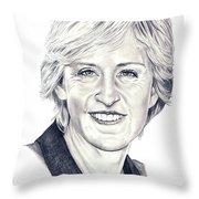 Ellen Degeneres Throw Pillow