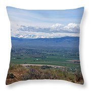 Ellensburg Valley With Sagebrush And Lupine Throw Pillow
