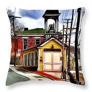 Ellicott City Fire Museum Throw Pillow