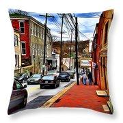 Ellicott City Sidewalk Throw Pillow