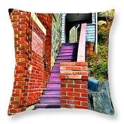 Ellicott City Steps Throw Pillow