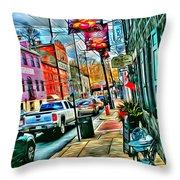 Ellicott City Street Throw Pillow