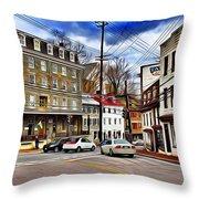 Ellicott City Streets Throw Pillow