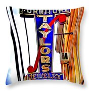 Ellicott City Taylor's Sign Throw Pillow