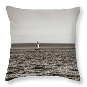 Elliott Bay Sailing Throw Pillow