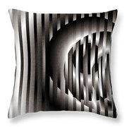 Ellipse On Grid Throw Pillow