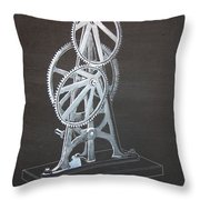 Elliptical Gears Throw Pillow