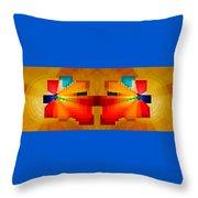Elliptical Iridescence Throw Pillow