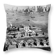 Ellis Island, 1933 Throw Pillow