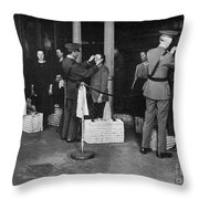 Ellis Island: Examination Throw Pillow