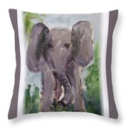 Elly Phant Throw Pillow