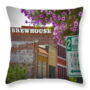 Elm Street Downtown Greensboro Throw Pillow