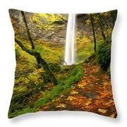 Elowah Autumn Trail Throw Pillow