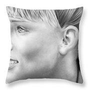 Elsa Pataky Throw Pillow