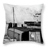 Elsinore Port Denmark Throw Pillow