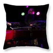 Elton - Enjoying The Show Throw Pillow by Chris Cousins