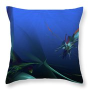 Elusive North Western Spiny Fish Throw Pillow