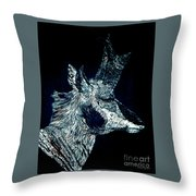 Elusive Visions Antelope Buck Throw Pillow