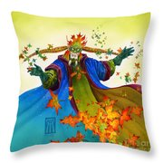 Elven Mage Throw Pillow