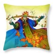 Elven Mage Throw Pillow