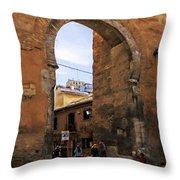 Elvira Gate Throw Pillow