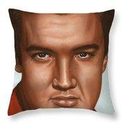 Elvis 24 1958 Throw Pillow