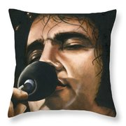 Elvis 24 1972 Throw Pillow