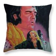 Elvis And Jon Throw Pillow