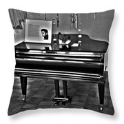 Elvis And The Black Piano ... Throw Pillow
