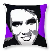 Elvis Don't Live Here Anymore Throw Pillow