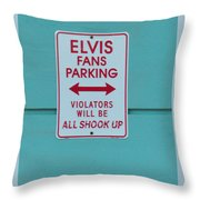 Elvis Fans Parking Throw Pillow