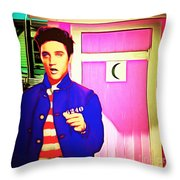 Elvis Has Left The House 20151225 Square Throw Pillow