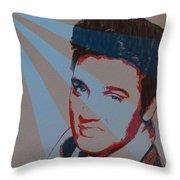 Elvis Pop Art Poster Throw Pillow