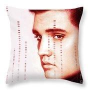 Elvis Preslely Throw Pillow