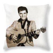 Elvis Presley By Mb Throw Pillow