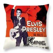 Elvis Presley In King Creole 1958 Throw Pillow