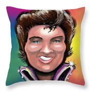 Elvis Presley Throw Pillow by Kevin Middleton