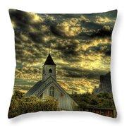 Elvis Presley Memorial Chapel II  Throw Pillow
