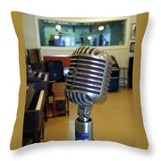 Elvis Presley Microphone Throw Pillow