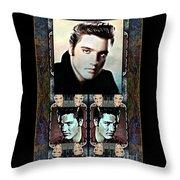 Elvis Presley Montage Throw Pillow