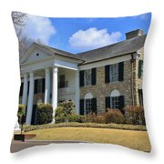 Elvis Presley's Graceland Throw Pillow