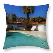 Elvis Presley's Palm Springs Home Throw Pillow