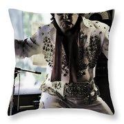 Elvis....sort Of Throw Pillow