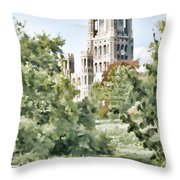 Ely Cathedral Throw Pillow
