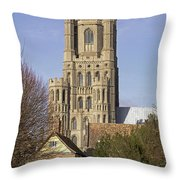 Ely Cathedral West Tower Throw Pillow