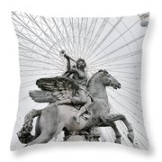 Emanating Sound Throw Pillow