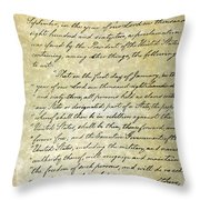 Emancipation Proc., P. 1 Throw Pillow by Granger