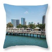 Embarcadero Marina Park South Pier Close Up Throw Pillow